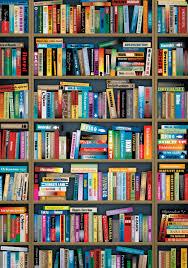 Bookshelf Background Image Bookcase Wallpaper Qygjxz