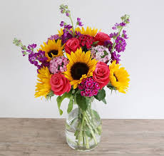Bouquet Of Flowers In Vase Flower Shop Smiles Memory Lane Floral
