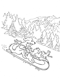 sledding coloring pages coloring pages for kids by mr adron february 2013