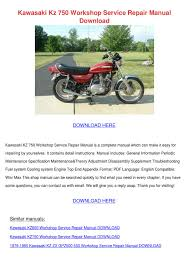 kawasaki kz 750 workshop service repair manua by louisalopes issuu