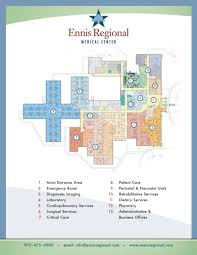 Business Floor Plan Design by Hospital Floorplan Ennis Regional Medical Center Healthcare