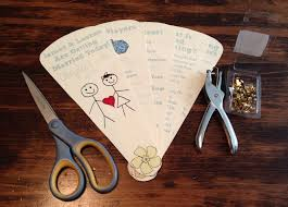 diy wedding program fan program fans for summer weddings diy flat