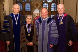 faculty regalia professors honored for achievements at fall faculty convocation