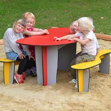 childrens table and bench set