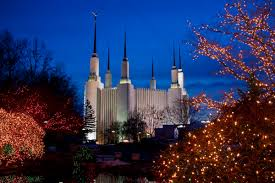 washington d c temple at christmas