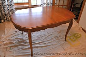 Dining Room Table Refinishing Chalk Paint Dining Room Table Upcycle Adventure The Cards We Drew