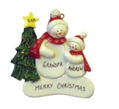 sled personalizd ornament for grandparents with 6 grandkids