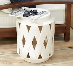 Ceramic Accent Table Lattice Ceramic Accent Table Pottery Barn