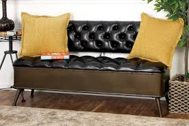 Leather Storage Bench Cole U0026 Grey Metal And Faux Leather Storage Bench U0026 Reviews Wayfair