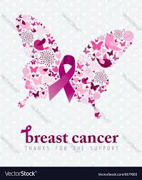 halloween breast cancer ribbon background breast cancer support poster pink ribbon butterfly
