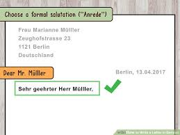 ideas collection how to write formal letter in german language