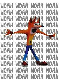 Woah Meme - crash bandicoot woah meme graphic t shirt by jonyy redbubble