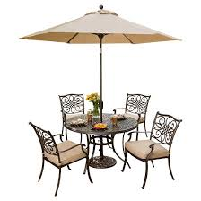 Patio Furniture Round Hanover Outdoor Furniture Traditions 5 Pc Dining Set Of 4