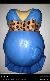 baby belly baby shower cake for a boy and painted the cheetah