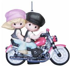 precious moments company on motorcycle ornament