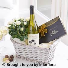 gift baskets 20 luxury white wine gift basket buds and blooms esher surrey