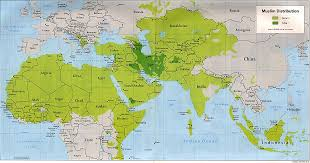 Picture Of A World Map by Muslim World Map A Distribution