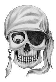 art skull pirate tattoo stock illustration image 66603764