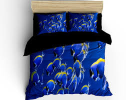 Electric Blue Duvet Cover Shark Duvet Cover Etsy