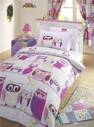 Lilac Bedding Sets Owls Duvet Cover Bed Sets Lilac Owl Print Quilt Sets Curtains
