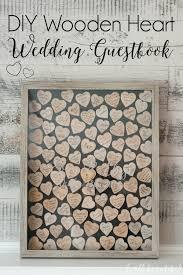 heart guest book diy wooden heart wedding guestbook idea dwell beautiful