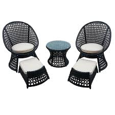 Patio Furniture 5 Piece Set - vienna 5 piece wicker chair and ottoman set at home at home