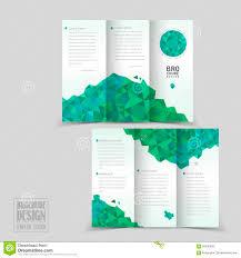 fold brochure template simplicity tri fold brochure template design stock vector