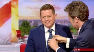Daily Express News Desk Bbc Breakfast Charlie Stayt Awkwardly Undresses Co Star Live On