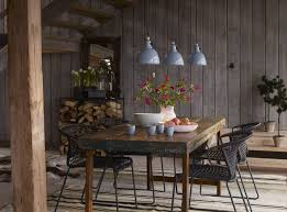 Urban Dining Room Table - interior urban rustic dining room decor with old wood dining