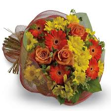 thanks a million say thank you with a cheerful bouquet of bright orange gerberas and