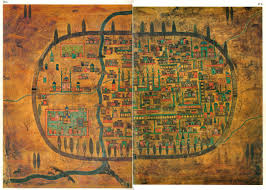Map Of Istanbul Plan Of Tabriz A City In Iran The Painting Is Kept In The