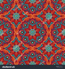 seamless pattern mandalas vector ornaments background stock vector