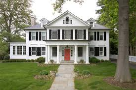 White House With Black Trim Nail Your Curb Appeal Traditional Style Lasley Brahaney