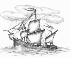 drawn ship shading pencil and in color drawn ship shading
