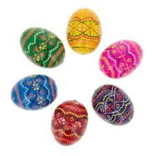 wooden easter eggs 1 5 set of 6 miniature ukrainian wooden easter eggs pysanky ebay