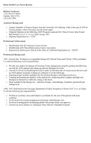 Home Health Care Job Description For Resume by Home Health Care Resume Best Template Collection