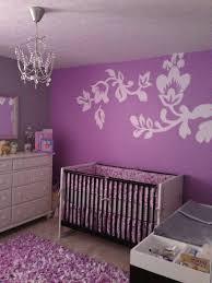 Purple Nursery Decor Baby Nursery Decor Flower Purple Baby Nursery Simple Themes