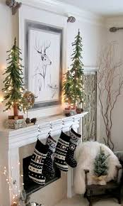White Christmas Mantel Ideas by