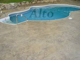 Stamped Patio Designs by Stamped Concrete Pool Deck Seamless Stone Pattern In A Free Form