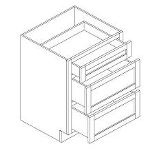 36 base kitchen cabinet with 3 drawers 3db36 drawer base cabinet with 3 drawers 36 w x 34 5 h x 24