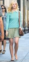elle fanning switches up her style on set in nyc daily mail online