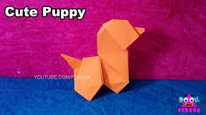 cute puppy paper dog fold kids easy making origami for kids
