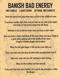 how to clear bad energy banish bad energy for the future pinterest witches magick
