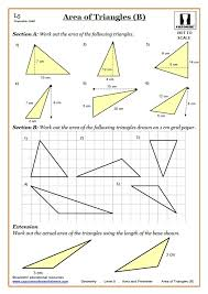area worksheets ks3 perimeter area worksheets area of triangles