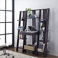 Wooden Bookshelves Ikea by Ingenious Grey Wooden Bookshelves Ladder With Workdesk At Once