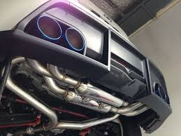 nissan 350z quad exhaust pzp jdm performance specialists dyno tuning perth