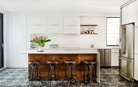 white kitchen wood island interior decoration contemporary kitchen with rectangle brown