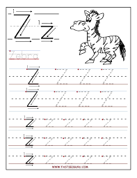 letter z worksheets for preschool kindergarten printable