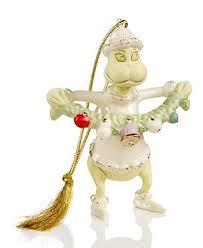 lenox grinch stealing the garland ornament splash