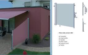 Patio Wind Screens by Warema Retractable Patio Side Screen Screen In Patio Retractable